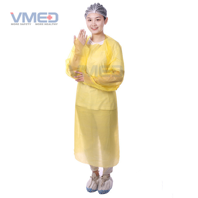 Disposable Yellow CPE Gown
