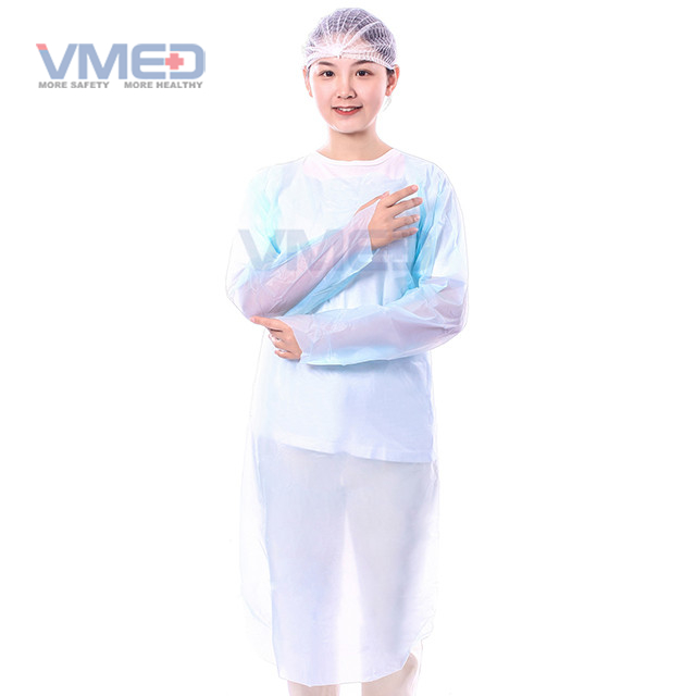Disposable Blue CPE Gown