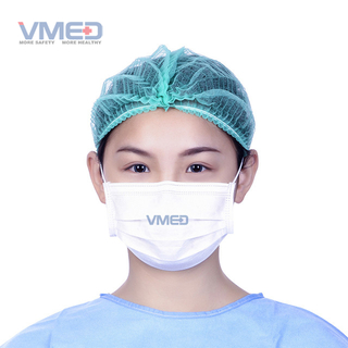 White Surgical Laboratory Face Protection Mask