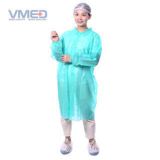 Disposable SPP Non-woven Green Lab Coat