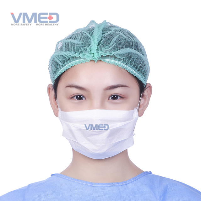 Disposable White Paper Protective Mask with Earloop