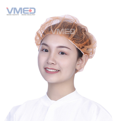 Orange Surgical Non-woven Bouffant Cap