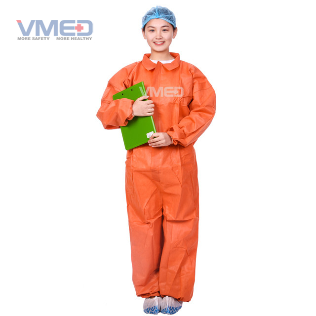 Orange Chemical Protective Coverall