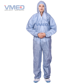 Disposable Grey SMS Protective Coverall