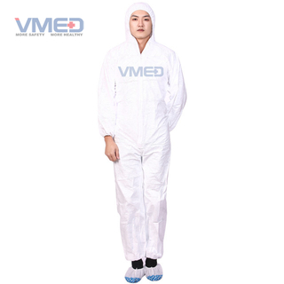 Disposable White Micro-porous Protective Coverall