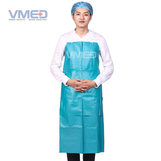 Disposable Blue PVC Apron