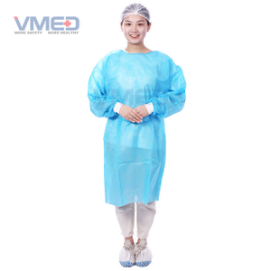 Disposable PP+PE Film Coated Surgical Gown