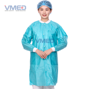 Disposable Medcial Non-woven Protective Lab Coat