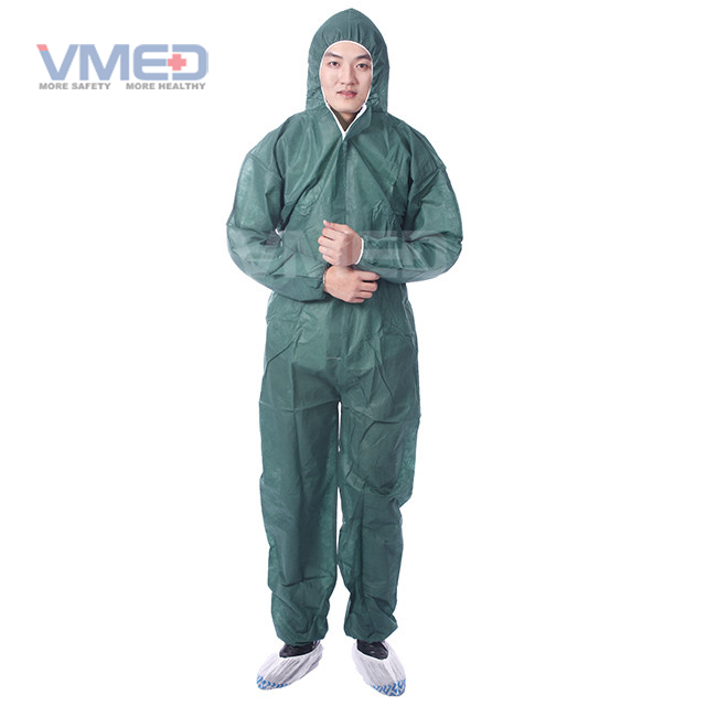 Disposable SPP Coverall With Hood And Without Boots