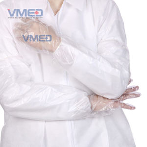 Disposable Transparent PE Long Sleeve Gloves