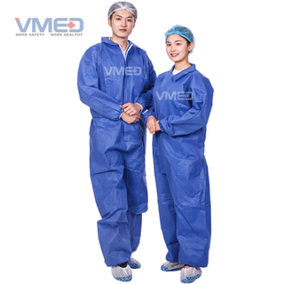 Disposable Blue SMS Protective Coverall