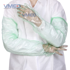Disposable Green PE Long Sleeve Gloves